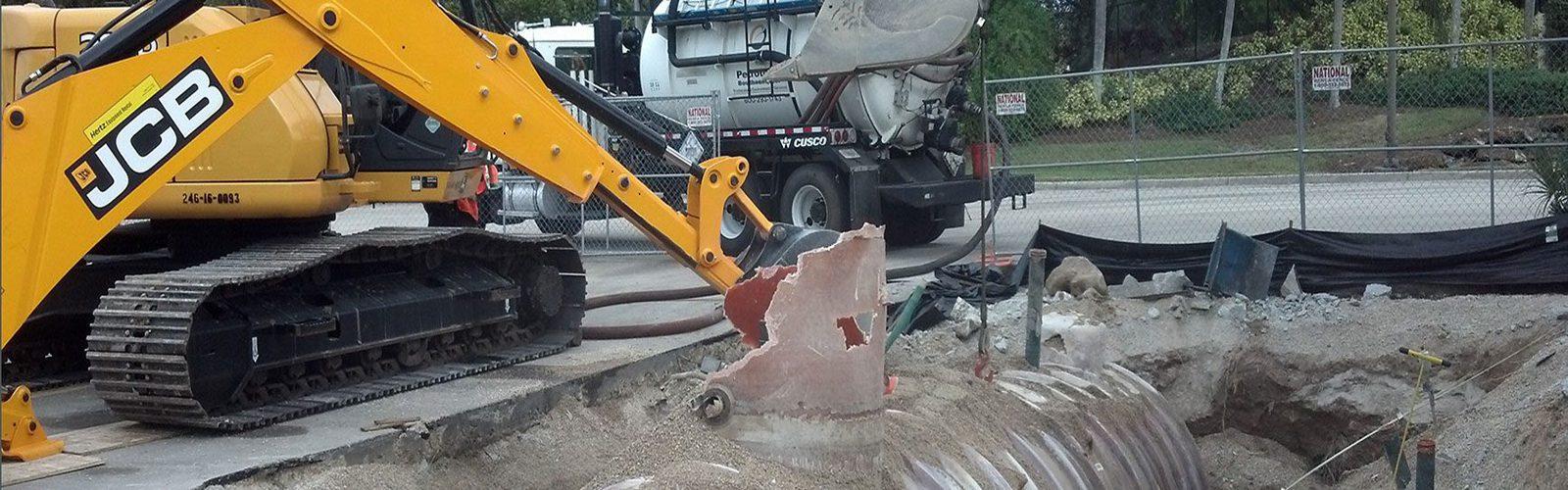 Removing old storage tank