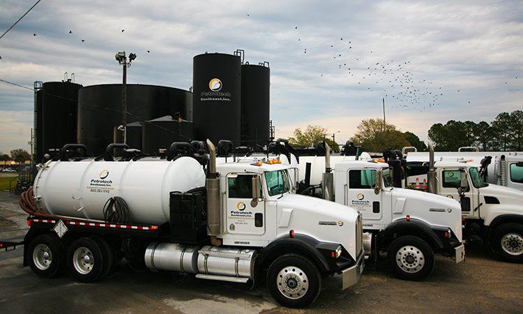 Petrotech oil trucks