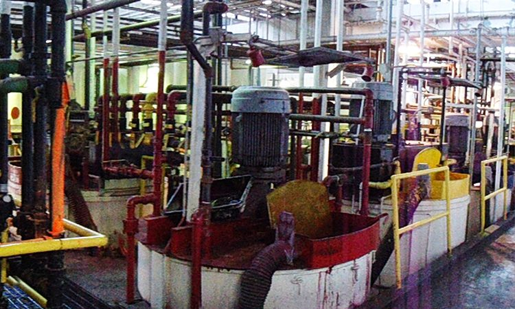 Facility with many pipes running through it