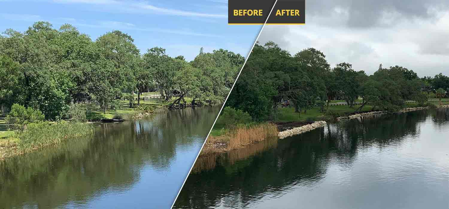 Shoreline Restoration Before and After | Petrotech